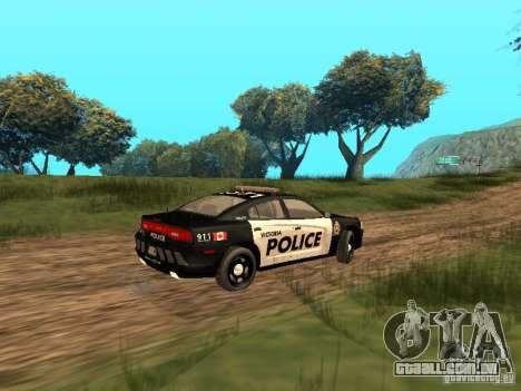 Dodge Charger Canadian Victoria Police 2011 para GTA San Andreas vista traseira