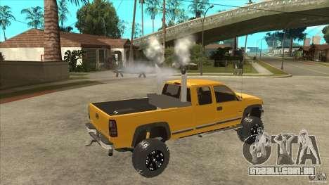 Chevrolet Silverado 2500 Lifted para GTA San Andreas vista direita