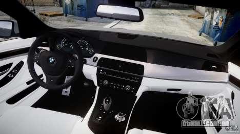 BMW M5 F10 2012 para GTA 4 vista direita