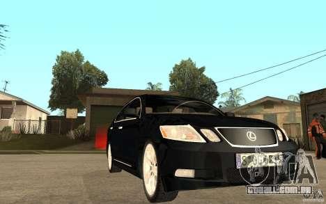 Lexus GS430 2007 para GTA San Andreas vista traseira