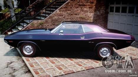 Dodge Challenger 1971 RT para GTA 4 esquerda vista
