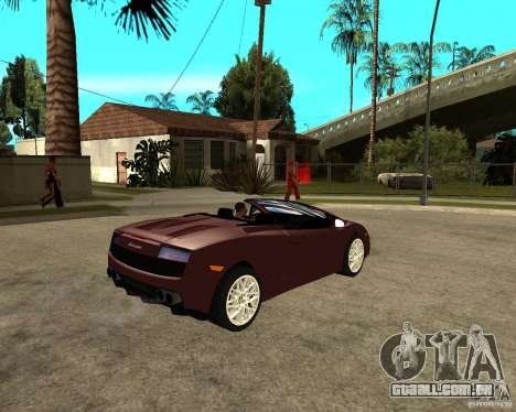 Lamborghini Gallardo LP560-4 Spyder para GTA San Andreas vista direita