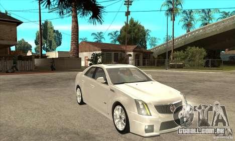 Cadillac CTS-V 2009 v2.0 para GTA San Andreas vista traseira