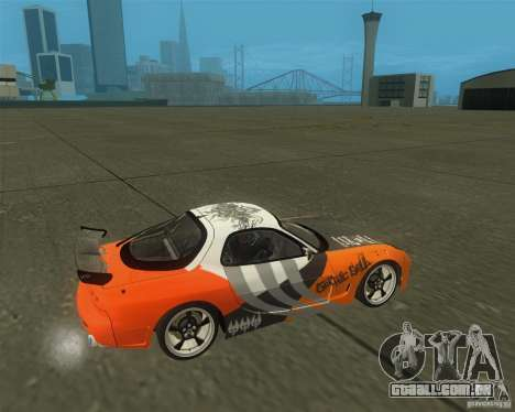 Mazda RX-7 weapon war para GTA San Andreas vista direita
