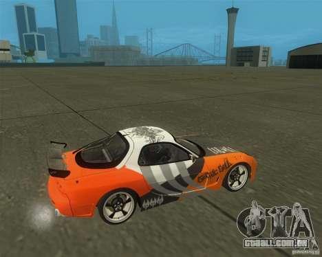Mazda RX-7 weapon war para GTA San Andreas vista direita