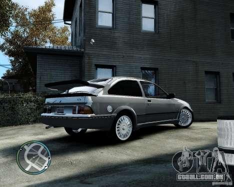 Ford Sierra RS500 Cosworth v1.0 para GTA 4 traseira esquerda vista
