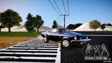 Ford Shelby GT500 KR 1968 para GTA 4 esquerda vista