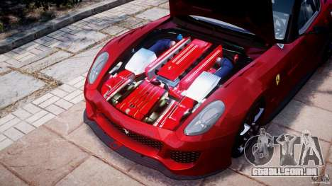 Ferrari 599 XX para GTA 4 vista interior