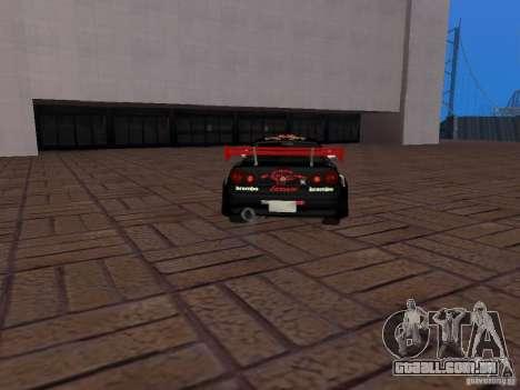 Nissan Skyline GT-R R34 Tunable para GTA San Andreas vista interior