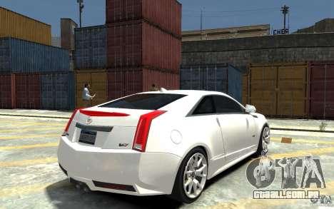 Cadillac CTS-V Coupe 2011 v.2.0 para GTA 4 vista direita
