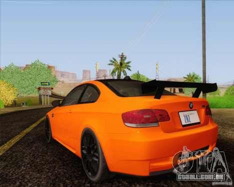 BMW M3 GT-S para GTA San Andreas esquerda vista