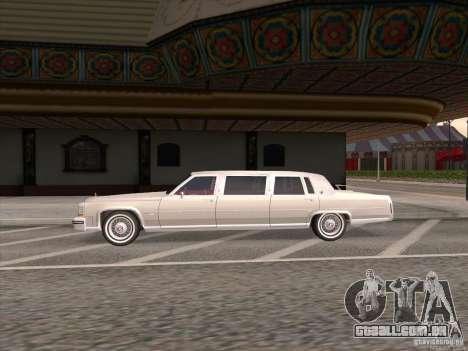 Cadillac Fleetwood Limousine 1985 para GTA San Andreas esquerda vista