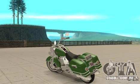 Harley Davidson Road King para GTA San Andreas traseira esquerda vista
