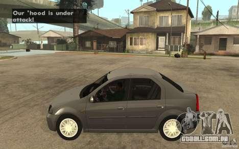 Dacia Logan Prestige 1.6 16v para GTA San Andreas esquerda vista