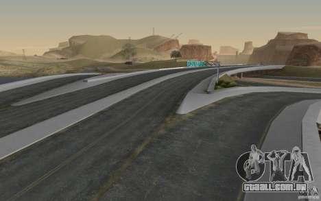 Estrada de HD v 2.0 Final para GTA San Andreas quinto tela