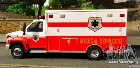 GMC C5500 Topkick Ambulance para GTA 4 esquerda vista