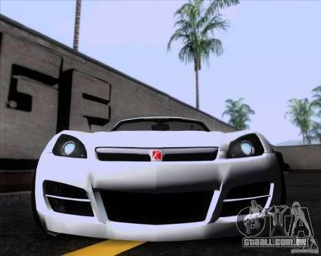 Saturn Sky Roadster para GTA San Andreas esquerda vista