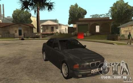 BMW 523i E39 1997 para GTA San Andreas vista traseira