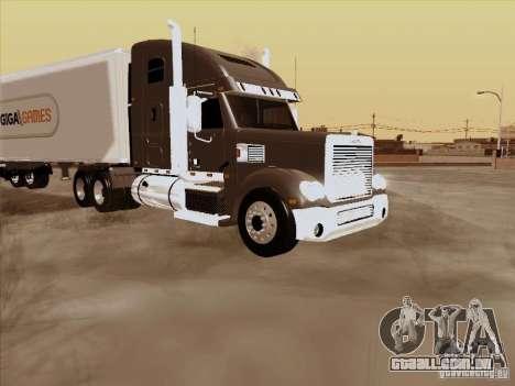 Freightliner Coronado para GTA San Andreas vista traseira
