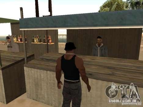 Mercado na praia para GTA San Andreas terceira tela