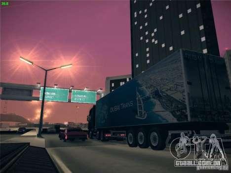 Trailer de Scania R620 Dubai Trans para vista lateral GTA San Andreas