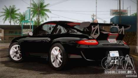 Porsche 911 GT3 para GTA San Andreas esquerda vista