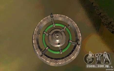 UFO hunter para GTA San Andreas traseira esquerda vista