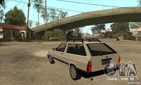 VW Parati GLS 1989 para GTA San Andreas traseira esquerda vista