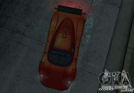 Maserati MC12 R para GTA 4 vista direita