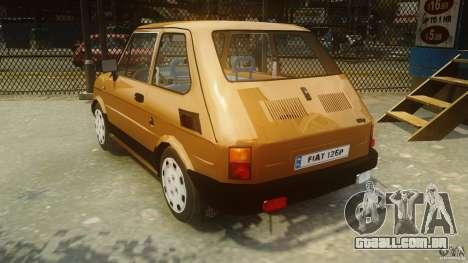 Fiat 126p FL Polski 1994 Wheels 2 para GTA 4 traseira esquerda vista