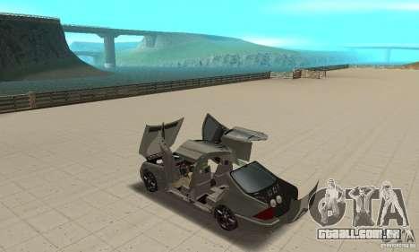 Mercedes Benz AMG S65 DUB para GTA San Andreas vista interior
