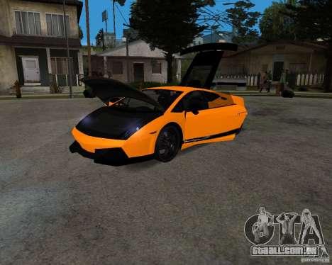 Lamborghini Gallardo LP570 Superleggera para GTA San Andreas traseira esquerda vista