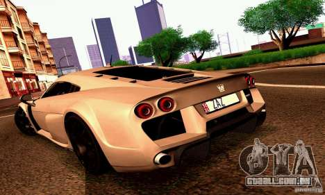 Noble M600 2010 V1.0 para GTA San Andreas vista inferior