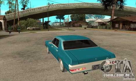 Pontiac LeMans para GTA San Andreas traseira esquerda vista