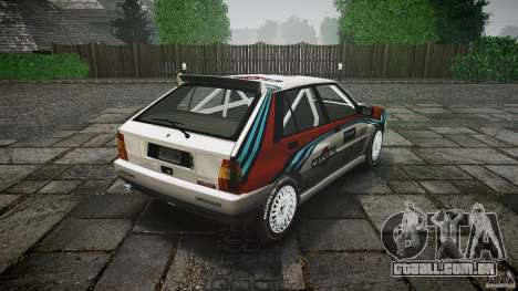 Lancia Delta Integrale Martini 1992 para GTA 4 vista lateral