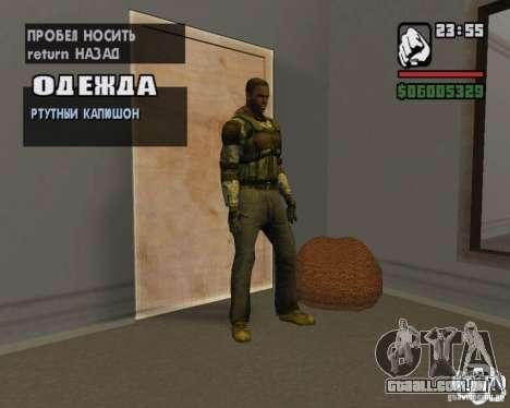 Roupas de um stalker para GTA San Andreas por diante tela
