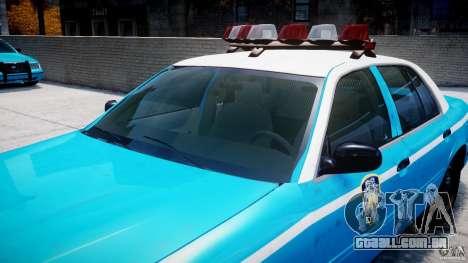 Ford Crown Victoria Classic Blue NYPD Scheme para GTA 4