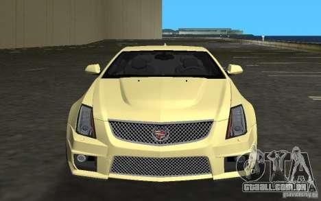 Cadillac CTS-V Coupe para GTA Vice City deixou vista