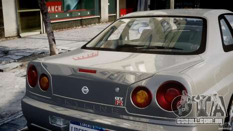 Nissan Skyline R34 Nismo para GTA 4 motor