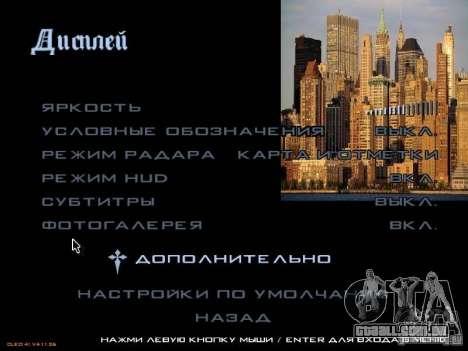 Novo menu no estilo de Nova Iorque para GTA San Andreas quinto tela