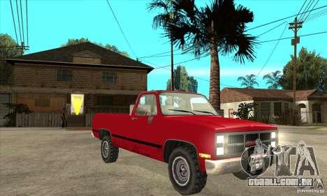 GMC Sierra 2500 para GTA San Andreas vista traseira