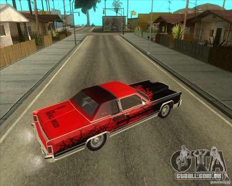 Lincoln Continental Town Coupe 1979 para GTA San Andreas vista direita