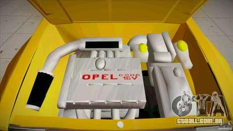 Opel Kadett D GTE Mattig Tuning para GTA San Andreas vista superior