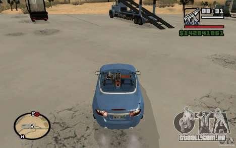 Jaguar XK Convertable para GTA San Andreas traseira esquerda vista