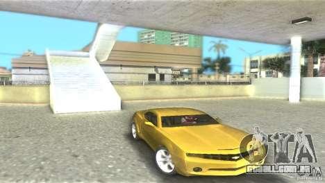Chevrolet Camaro para GTA Vice City vista traseira