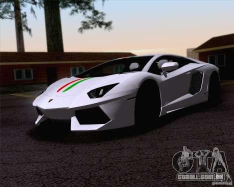 Lamborghini Aventador LP700-4 2011 para GTA San Andreas vista superior