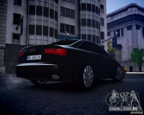 Audi A6 2012 para GTA 4 vista direita