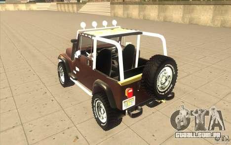 Jeep Wrangler 1986(2) para GTA San Andreas vista direita