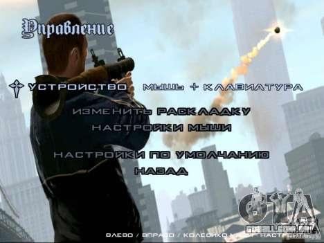 Menu como em GTA IV para GTA San Andreas quinto tela