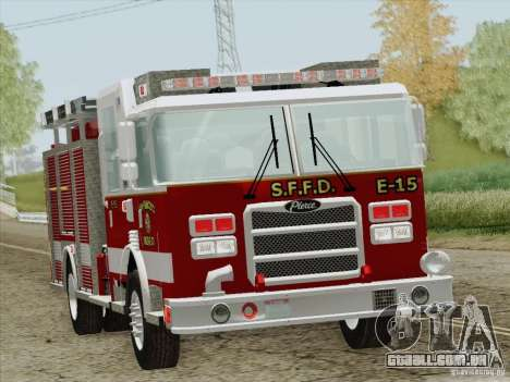 Pierce Pumpers. San Francisco Fire Departament para GTA San Andreas vista inferior